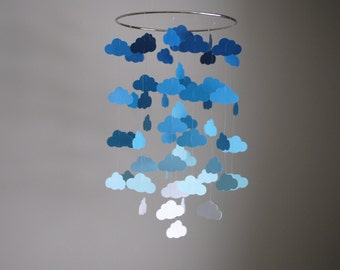 Blue Clouds Mobile // Nursery Mobile - Choose Your Colors
