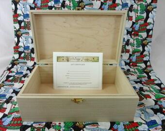 Gift Certificate for Custom Designed and Wood Burned Box