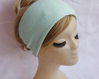 Mint Headband Turband Stretch Headband Bow Turban Wide Hippie Boho Headband Twist  Hair Bands Chic Yoga Headband Hair Wrap