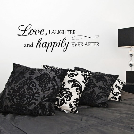 love laughter happily ever after vinyl wall decal quotes