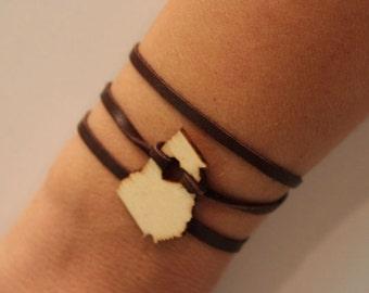Georgia Leather Wrap Bracelet