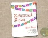 Fiesta Invitation Printable: Wedding Rehearsal Dinner Invitation 5x7 file