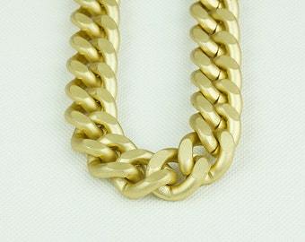 23x19mm Matte Gold Chain, Aluminum Chunky Chain, Twisted Curb Chain, Open Link Chain, Pkg of 1m(1.1 yards.), N08X.MG05.L1M
