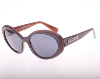Sunset colors Wide Cateye sunglasses made in Germany by Bernd Berger, 1980s deadstock