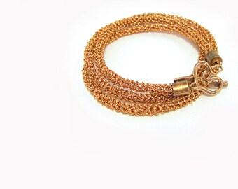 Wrap Bracelet, Three Wrapp Bangle, Banjles Copper Bracelet, Wire Crochet Versatile Necklace, Stacking Bracelet, Minimalist Jewelry