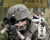 Army Combat Party Printable Invitation - with Photo