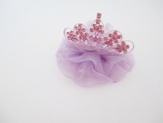 Pink and Purple Princess Tiara Crown Hair Clip or by ...