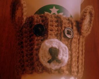 Teddy bear coffee cozy