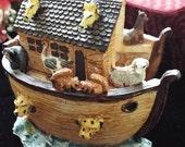 noah's ark, hinged display figurine