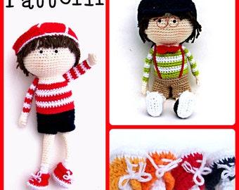 """Pattern, Boy Crochet Doll, TootyLou, 14"""""""