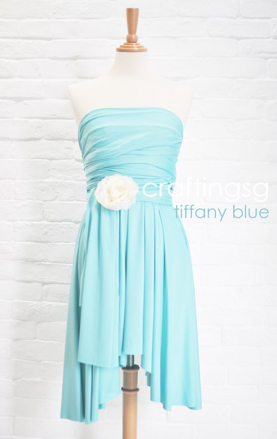 Bridesmaid dress infinity dress tiffany blue by thepeppystudio for Wedding dresses with tiffany blue