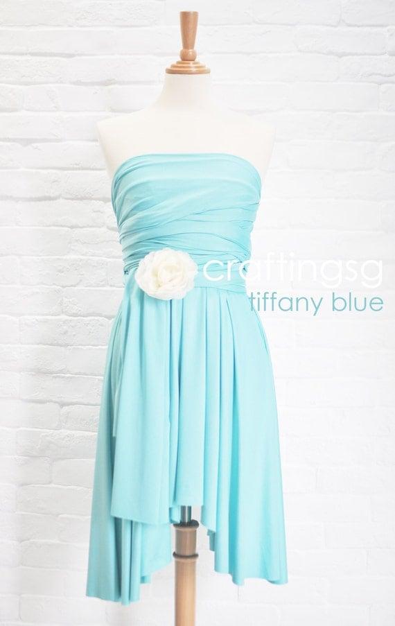 Bridesmaid Dress Infinity Dress Tiffany Blue By Thepeppystudio