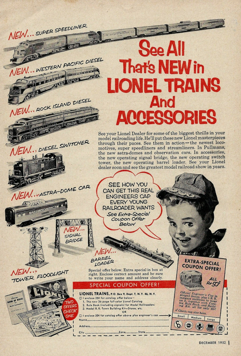 Vintage Lionel Train Ad 1950 S Toys And Games Toy