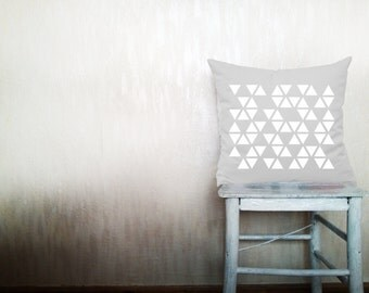 Geometric pillows decorative throw pillows white triangle pillows chevron throw pillows Christmas pillows arrow pillows 16x20 inches pillows