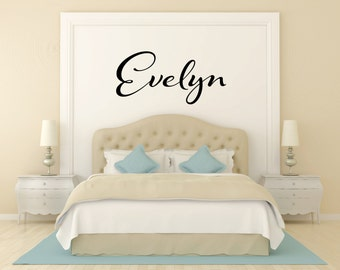 Baby Girl Name Wall Decal - Name Decals - Childrens Wall Decal - Kids Name Decals - Nursery Decals - Kid Decals