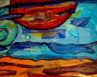 Sunset on Captiva Island--Mixed Media Print