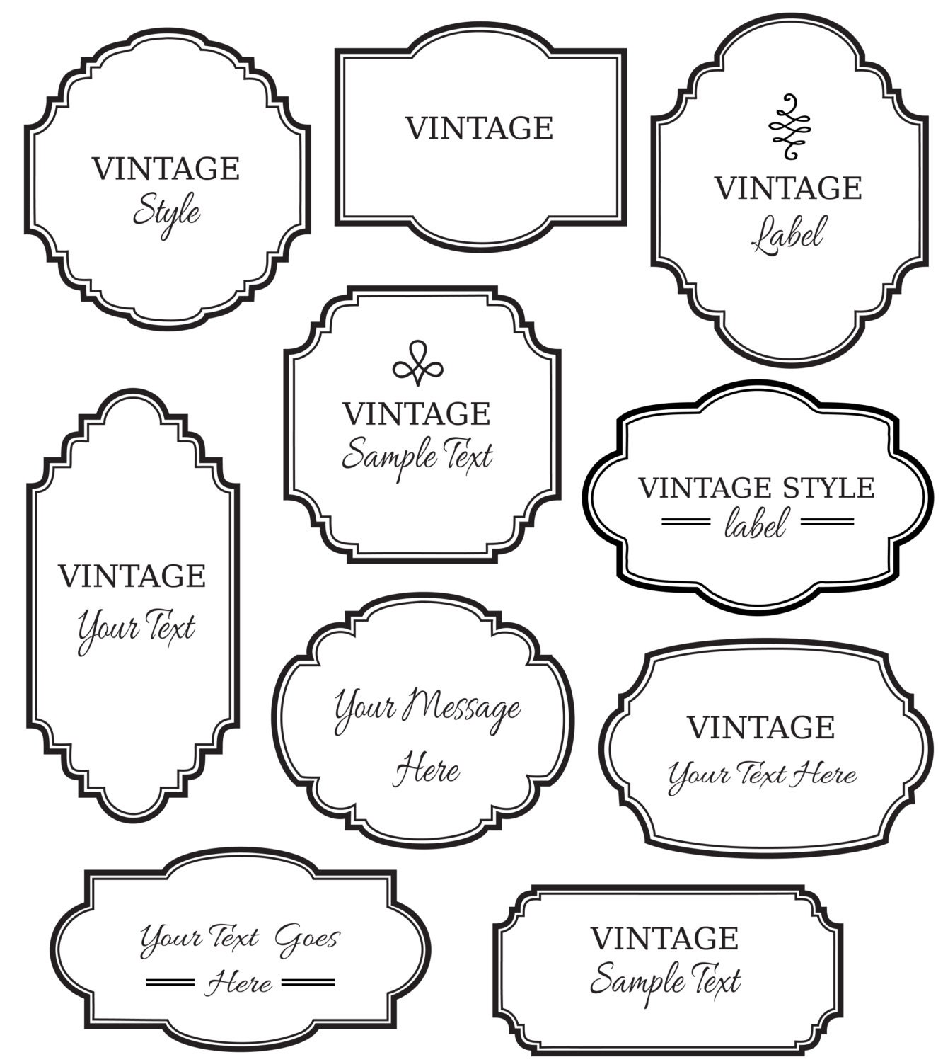 Decorative Label Outline Vintage labels clip artVintage Label Outline