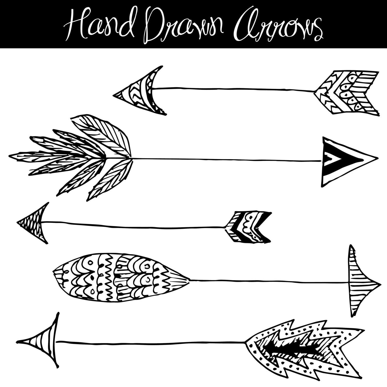 clip art hand drawn arrows native american style