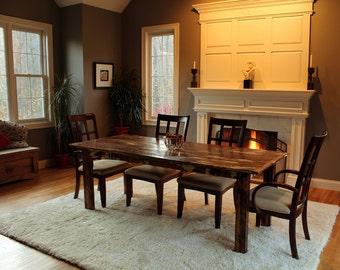 Reclaimed Wood Farm Table