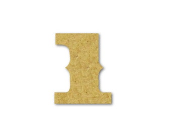 """Large Wood Number """"1"""" - Unfinished, Unpainted -- Perfect for Crafts, DIY, Nursery, Kids Rooms, Weddings – Sizes 1"""" to 42"""""""