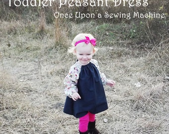 PDF Pattern and Instruction Booklet, Girls Peasant Dress Pattern