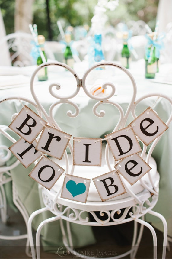 1 Year To Go Until Wedding Gift : Mini Banner, Bride To Be Chair Sign, Bridal Shower Decorations, Bridal ...