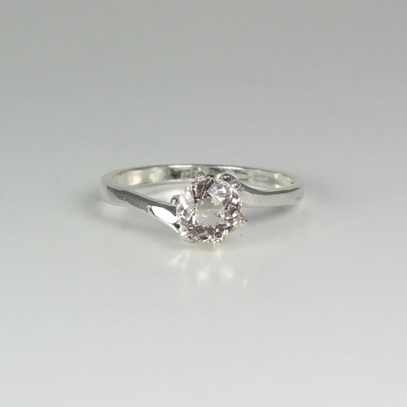 pink morganite ring sterling silver engagement