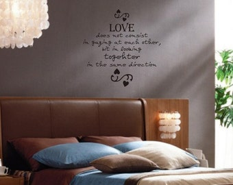 Love Does Not Consist  Quote Decal Sticker Wall