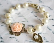 You Choose Colors, Flower Girl Gift, Pearl Bracelet, Bridesmaids Bracelet, Childrens Gift, Wedding Accessories, Birthday Gifts, Baptism Gift