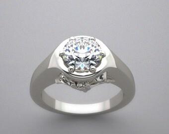 14K Gold Elegant Bow Design Engagement Ring Setting