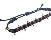 Cowboy baby anklet - Child bracelet - Delicate bracelet or anklet - Card weaving bracelet anklet 171