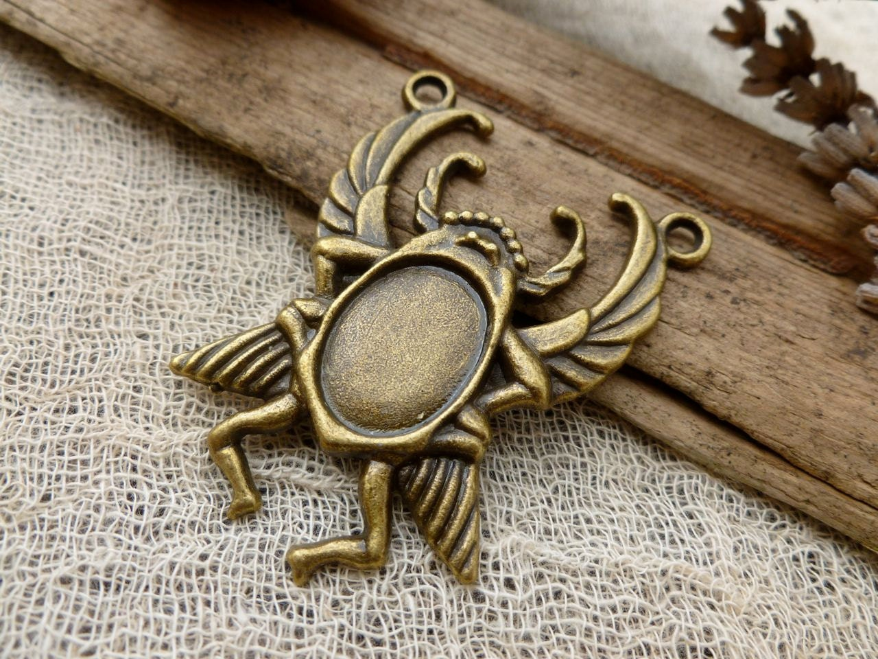 1x scarab beetle pendant charms by teapottreasuresuk
