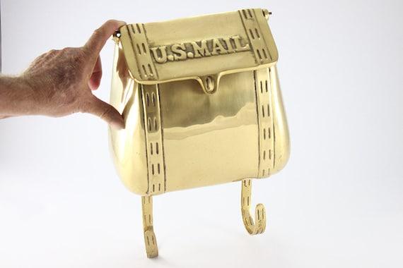 Vintage Brass Mailbox Brass US Mail Carrier By