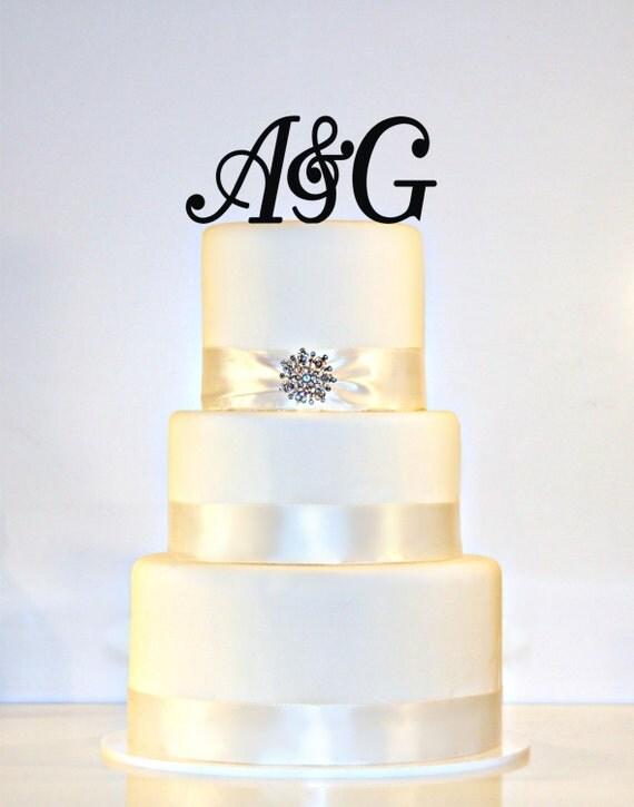 Wedding Cake Topper Mo...W Monogram Wedding Cake Toppers