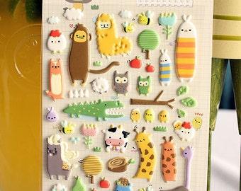 Korean Sonia Sticker -Cute Cartoon Jungle Friends Animals Farm Cute sticker