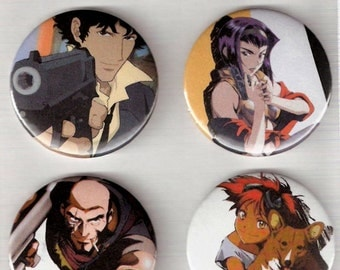 Cowboy Bebop Pin Back Button Set