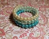 Pale Blue Ombré Wrap Bracelet