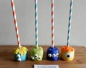 MONSTER Marshmallow Pops (12) - MONSTER Birthday/Monster Bash/MONSTER Favors
