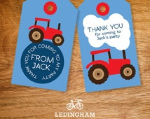 Green or Red Tractor Thank You Tags (Personalised DIY Printables)