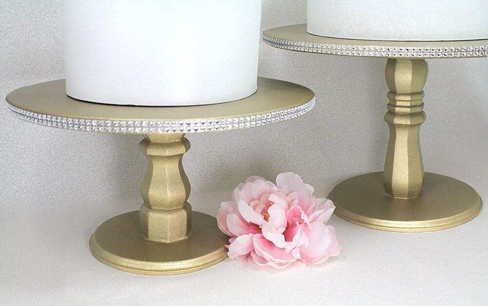 Round Gold Cake Stand Bling Wedding Cake Stand Drum