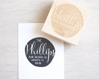 Personalized Stamp Address : personal wedding gift calligraphy custom rubber stamp