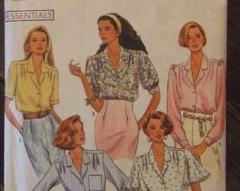 Simplicity 9857 Shirt Pattern Size H5 (6-14) CUT pattern in good shape all present and counted  1990