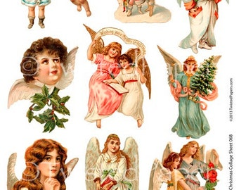 Victorian Christmas Cards Postcards Winter Holidays for