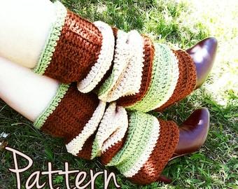Crochet Pattern Legwarmers Winter Fall Autumn Textured Easy Beginner PDF Tutorial Download Slouchy Cute Comfy Womens Teen