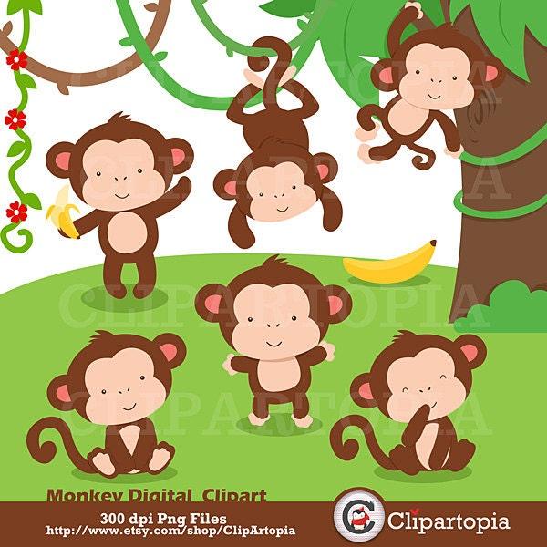 Little Monkey Murals Cute Little Monkey Digital