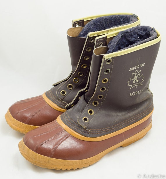 Vintage Sorel Duck Boots Mens 9 Felt Lined Made In Canada