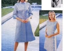 Vogue 1942 DRESS & COAT PATTERN Isaac Mizrahi Shift Dress and Lined A-Line Coat Size 8 10 12 Vogue Attitudes UNCuT Womens Sewing Patterns