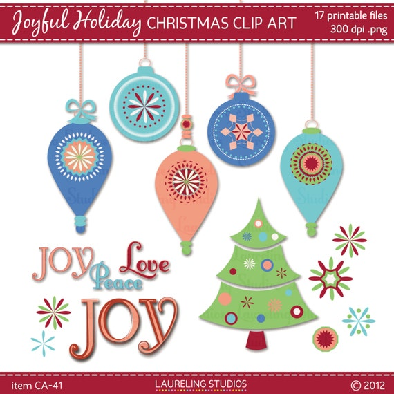Items similar to holiday clip art ornaments christmas tree for Christmas tree items list