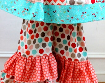 ruffle pants ONLY fall outfit polka dot pants toddler baby infant ruffle pants only double ruffle pants  ruffle pants outfit coral aqua