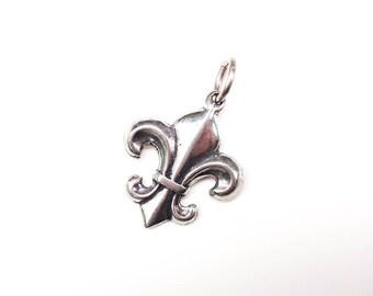 Fleur De Lis Charm, Silver Fleur de Lis, Bracelet Charm, Charm Bracelet, Pewter Charm, Gold Charm, Silver Charm, Britanium